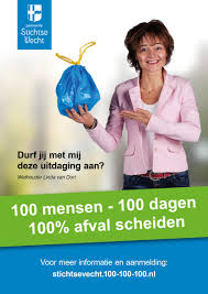 100 mensen 100 dagen 100% afval scheiden stichtse vecht
